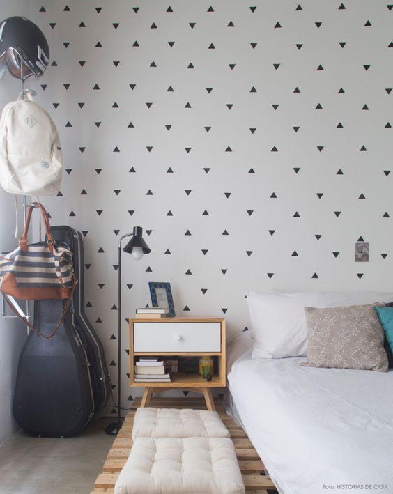 decoracao-historiasdecasa-maxhaus-comtijolo-21   Decorar o quarto gastando pouco, Quarto de casal simples, Dicas para decorar o quarto