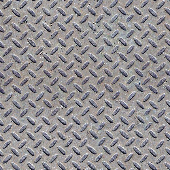 Seamless metal floor texture