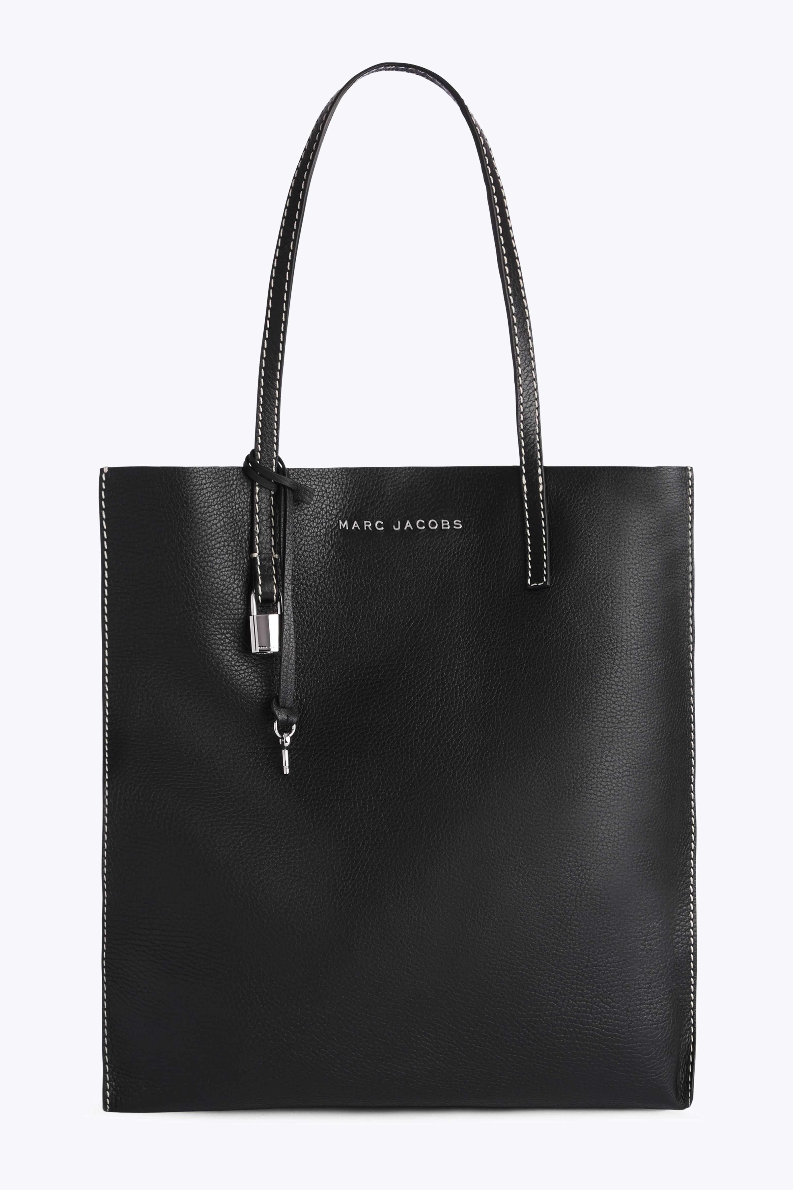 abf0b4847e69 Marc Jacobs The Grind Shopper Tote Back in Black Leather