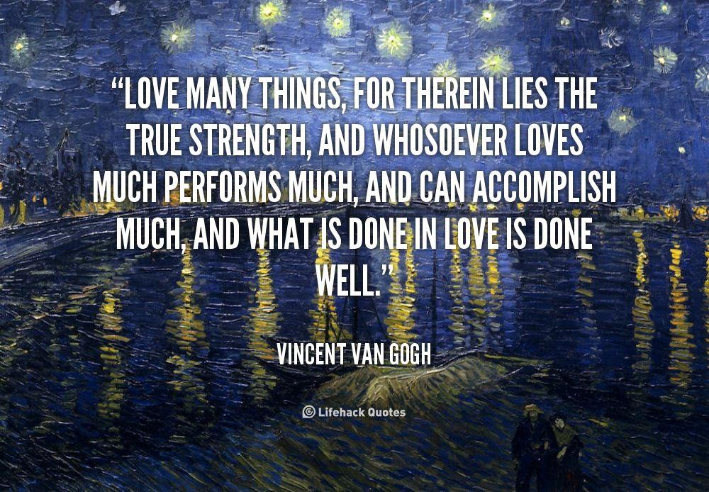 Quotes About Love Vincent Van Gogh