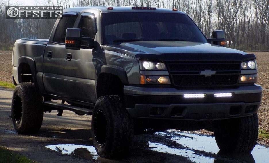 46145 13 2006 Silverado 1500 Chevrolet Suspension Lift 6 Fuel Hostage Black Super Aggressive 3 5 2006 Chevy Silverado Chevy Trucks Chevy Silverado 1500