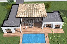 plan de maison moderne plain pied TEMPLATE (7) | maison | Pinterest ...