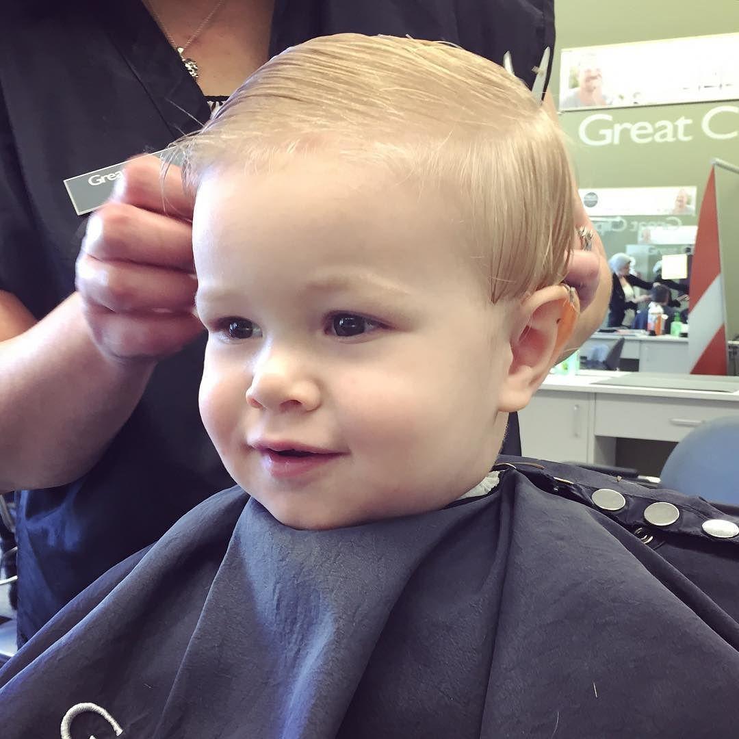 Little boy got his first big haircut this morning. Pretty ...