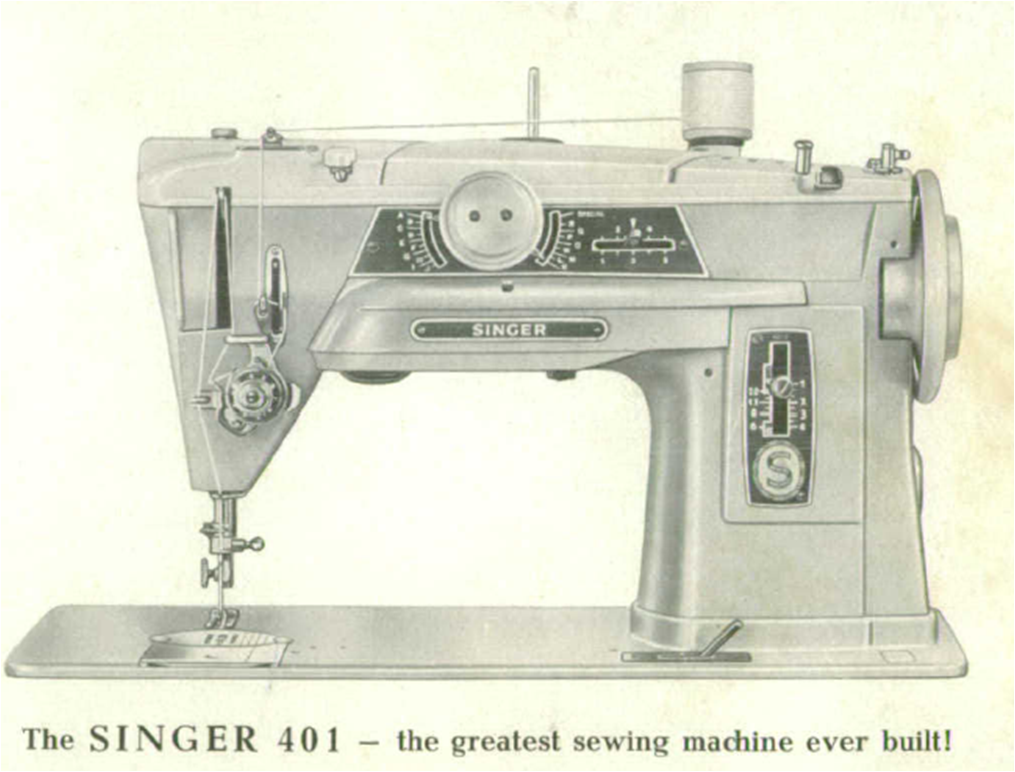 Gallery of vintage Singer sewing machine models with