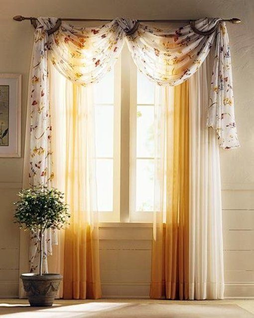 Attractive Decorating With Curtain Scarves | Coordinating Bathroom Decor Shower Curtain  Set