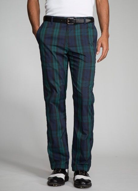 The Highland Pant - Blue & Green Plaid - 40/34 | Golf Gear ...