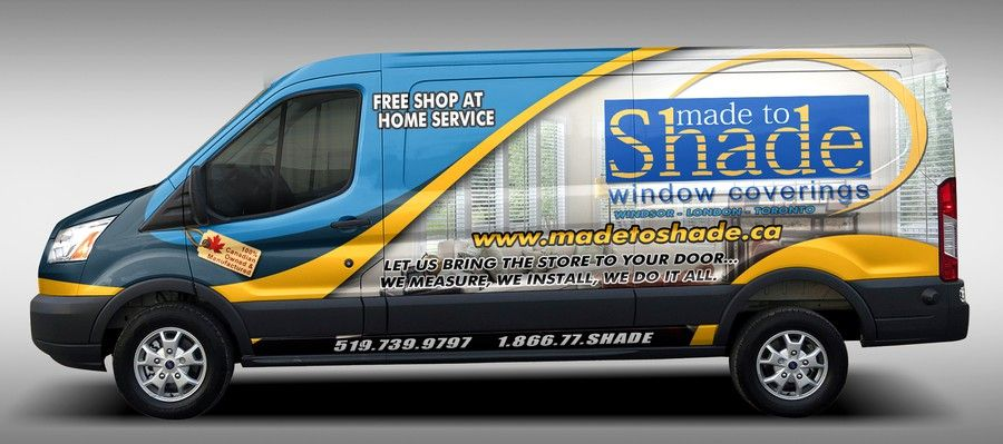 Ford Transit Wrap For A Window Coverings Company By Lumina Creative Ford Transit Van Signage Company Signage