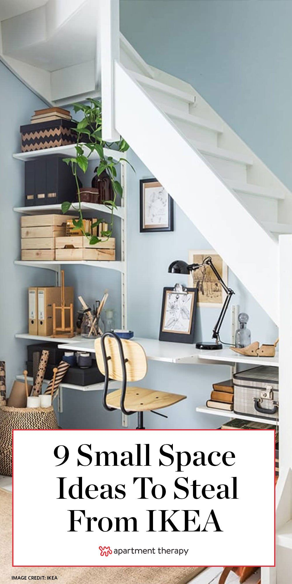 12 Clever Small Space Ideas To Steal From Ikea Small Apartment Design Ikea Small Spaces Small Spaces