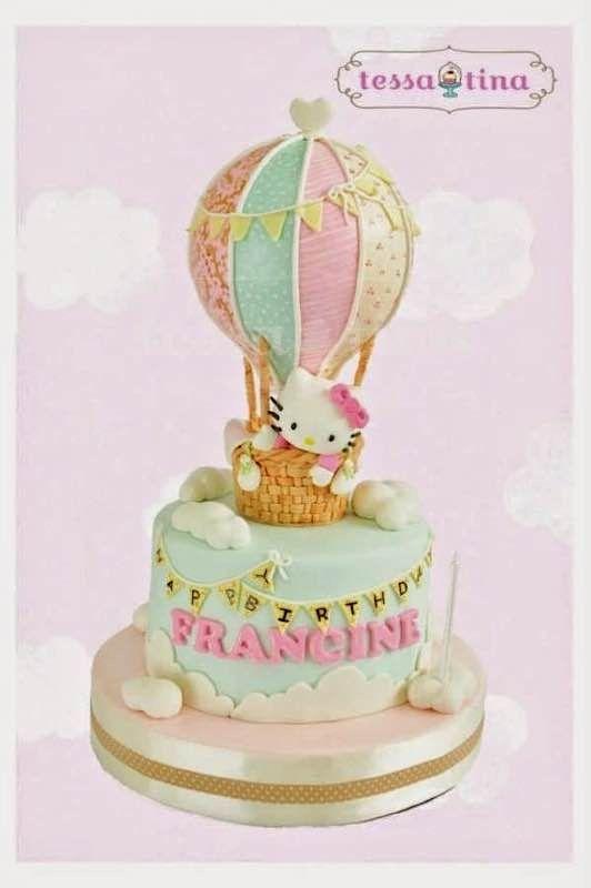 Pleasant Cute Hot Air Balloon Cake Torta Para Fiesta Funny Birthday Cards Online Necthendildamsfinfo