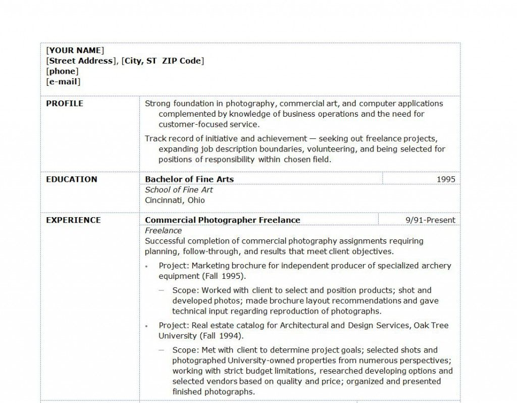 Photography Resume Objective Examples  Resume Samples