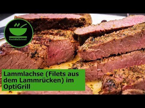 Weber Elektrogrill Lammlachse : Lammlachs filet aus dem lammrücken im optigrill von tefal mit