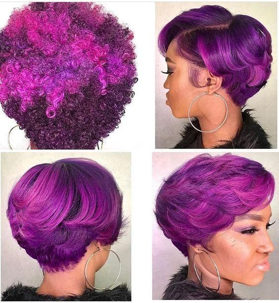 crazy purple hair color
