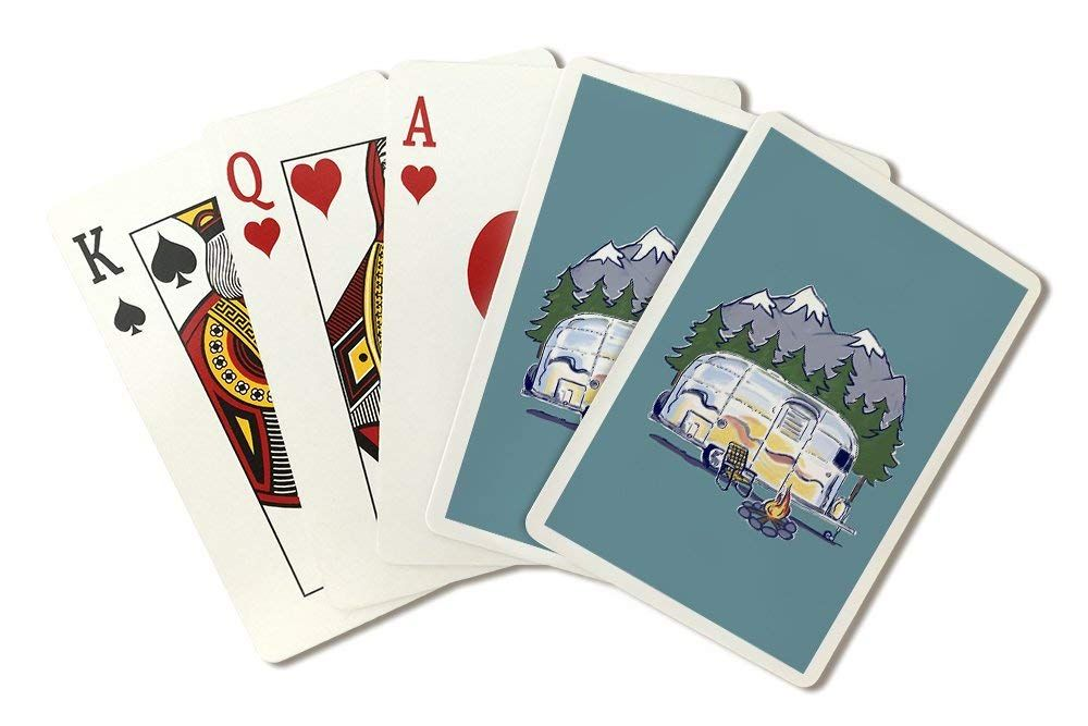 Airstream line drawing playing card deck 52 card