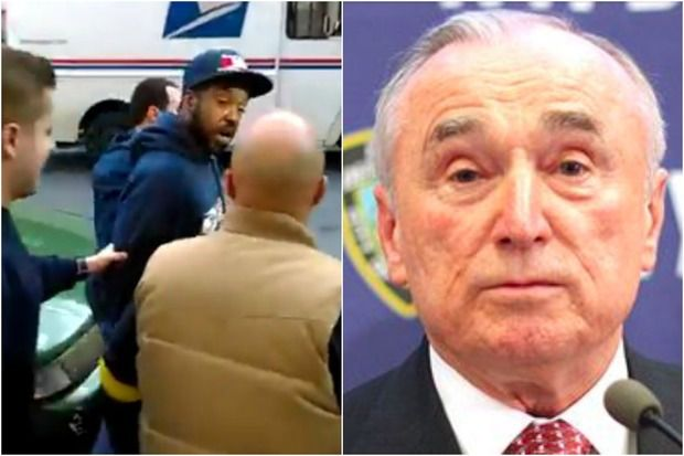 Officers Caught on Video Arresting Mailman Glenn Grays Removed from Posts, NYPD Commissioner Bratton Says
