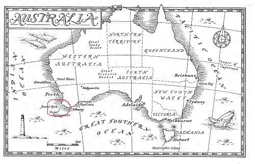 Janus Rock Australia Map.Janus Rock The Light Between Oceans Maps The Light Between