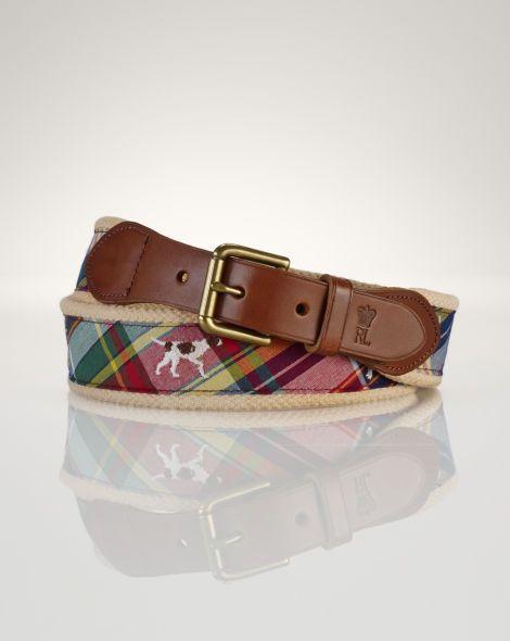 numerosi in varietà codice promozionale scarpe esclusive Madras Dog Belt - Polo Ralph Lauren Belts & Braces ...