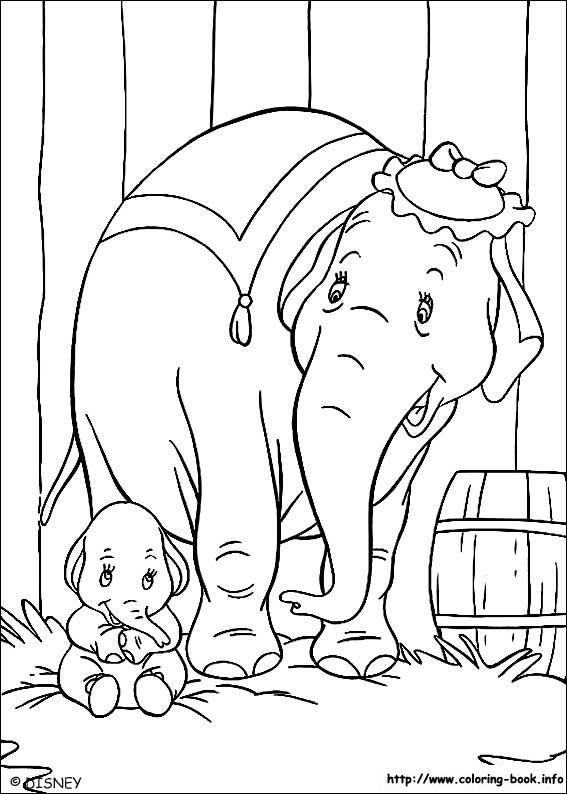 Dumbo Coloring Picture Coloriage Pages De Coloriage Disney