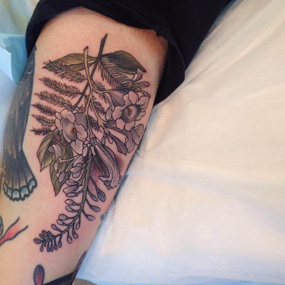 Small Jacaranda Tattoo: Sophia Baughan Jacaranda Tattoo