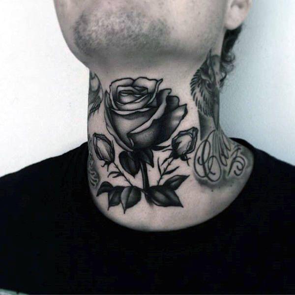80 Throat Tattoos For Men - Cool Masculine Design Ideas | Throat tattoo, Girl neck tattoos ...