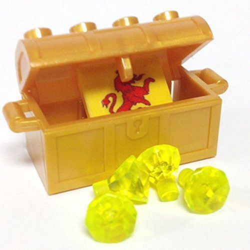 LEGO LOT OF 50 NEW PEARL GOLD JEWELS MINIFIGURE CRYSTALS PIECES