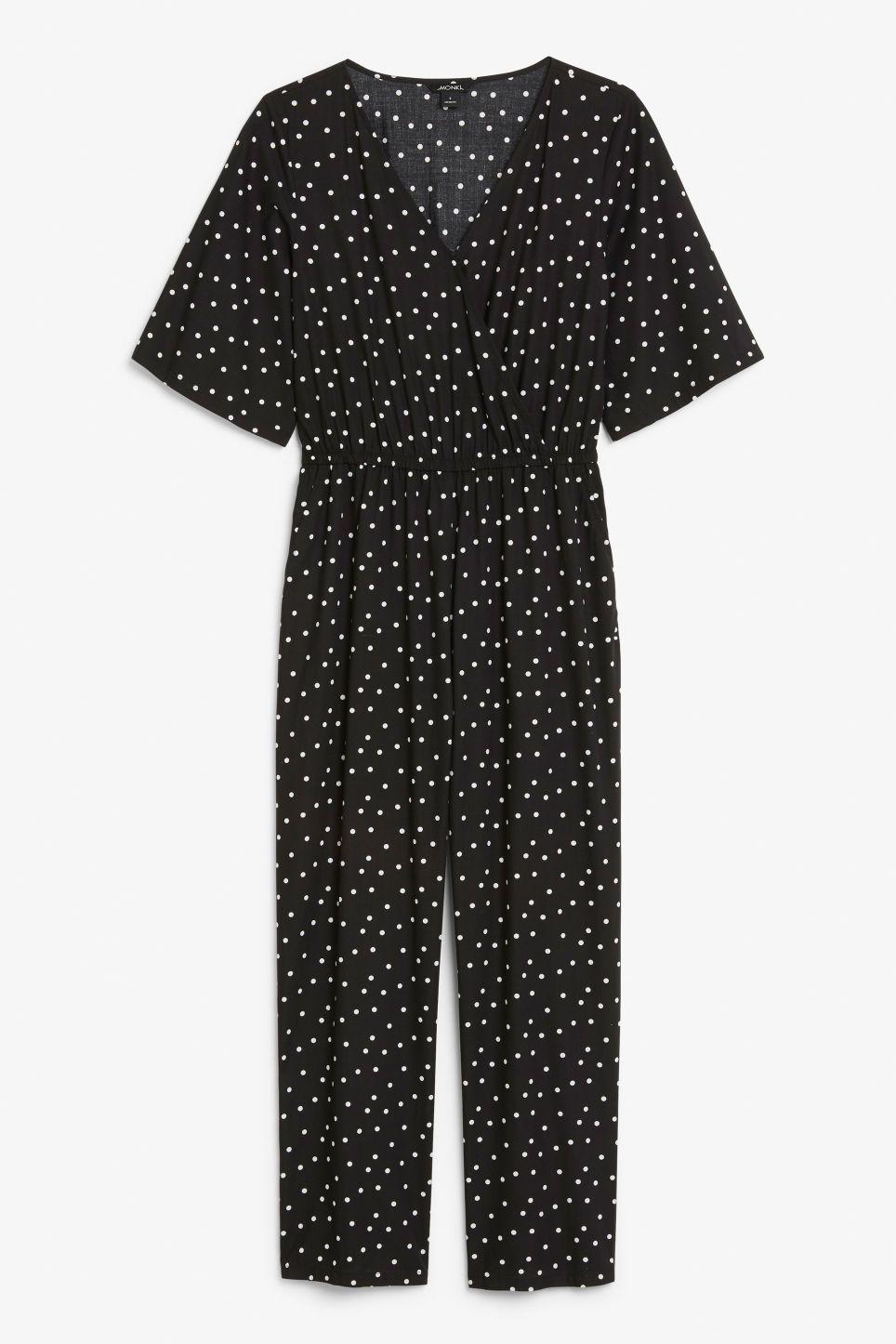 2b6bca01f75 Lightweight jumpsuit - Polka dot black- Jumpsuits - Monki GB