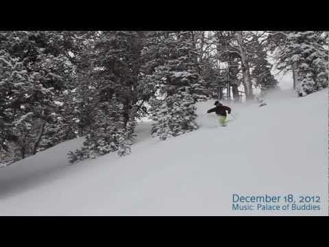 ▶ Deep Utah Powder - 12-18-2012 - Ski Utah - YouTube