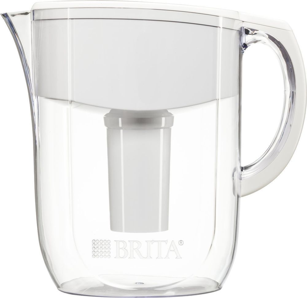 Water Pitcher Jug Filter Bpa Free Easy Fill Lid Auto Indicator
