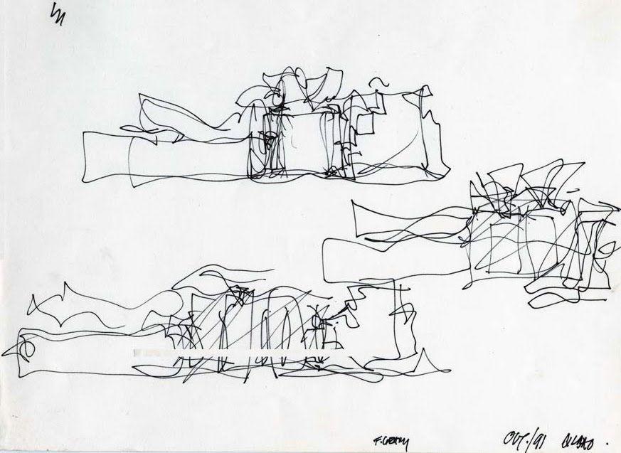 Guggenheim bilbao bocetos esquemas de dise o realizados - Estudios arquitectura bilbao ...