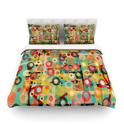 KESS InHouse Gift Wrapped by Bri Buckley Abstract Featherweight Duvet Cover Size: