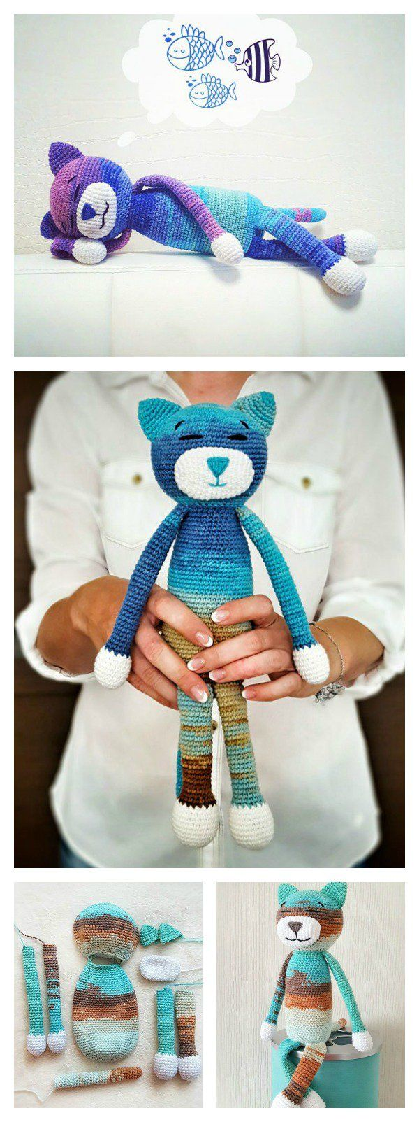 Crochet Amineko Cat with Free Pattern | Frei, Muster und Häkeln