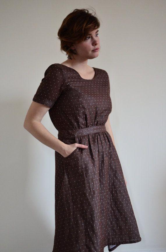 Organic Cotton Dress / Fall Dresses for Women / Rustic Dress ...