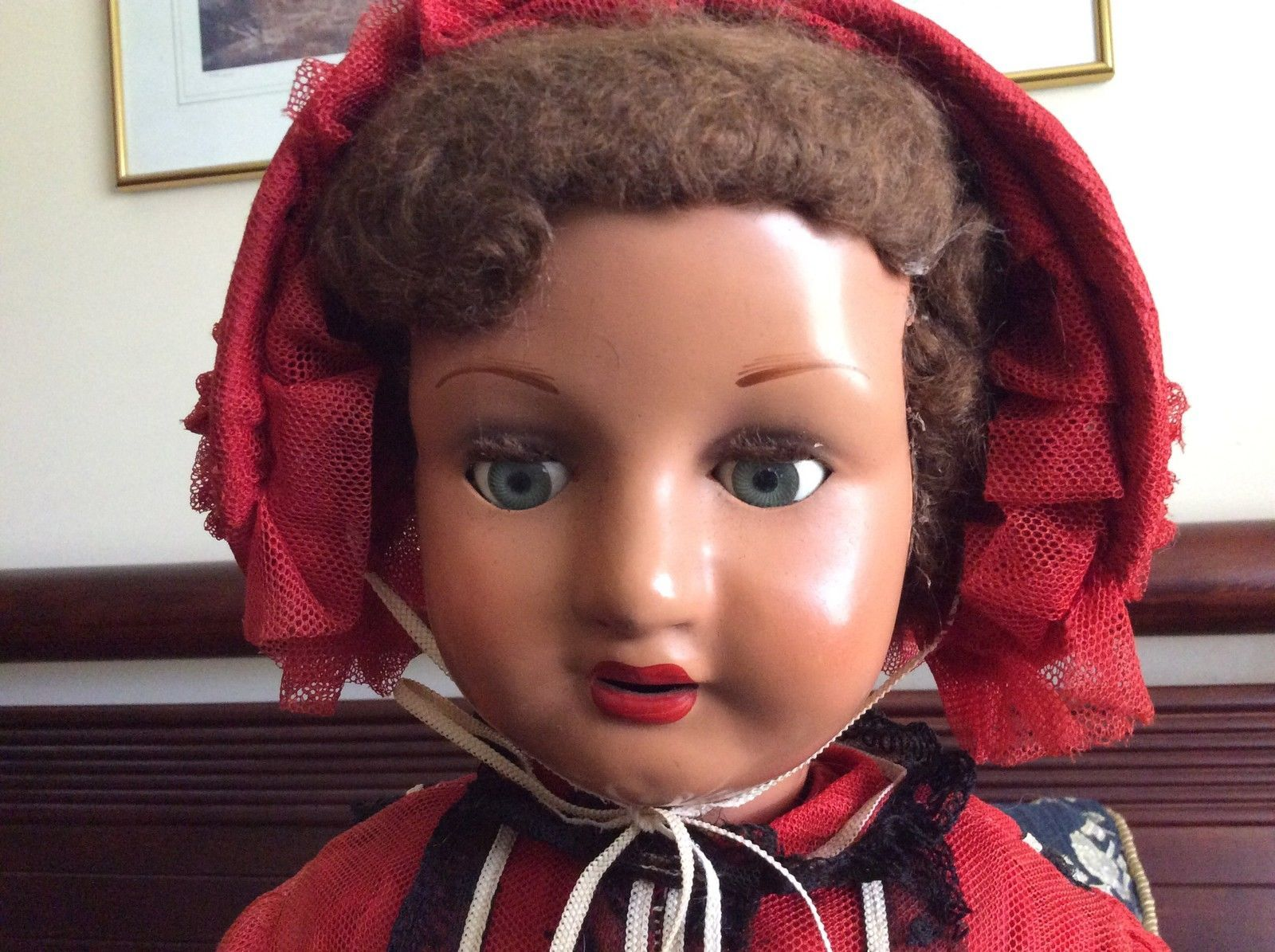 Huge Rare 27 Inch Vintage Australian Composition Doll in