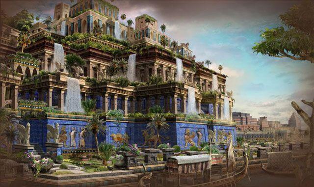 Las siete maravillas del mundo antiguo los jardines for Jardines colgantes de babilonia
