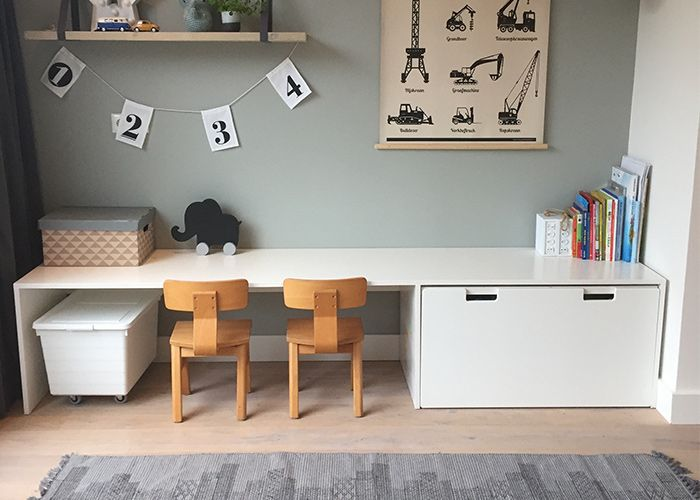 Ikea Hack Stuva Schreibtisch Basteltisch Furs Kinderzimmer Kinder Zimmer Schreibtische Kinderzimmer Kinderzimmer