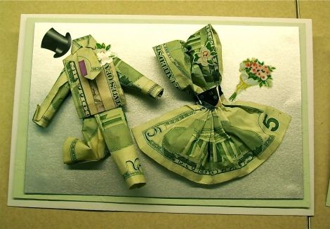 Dollars Two Rags To Riches Money Origami Wedding Gift Money Money Gift