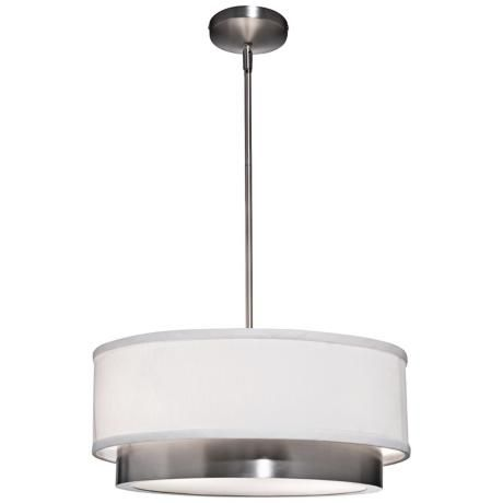 Artcraft Scandia 16 Wide Brushed Nickel Pendant Light W4356