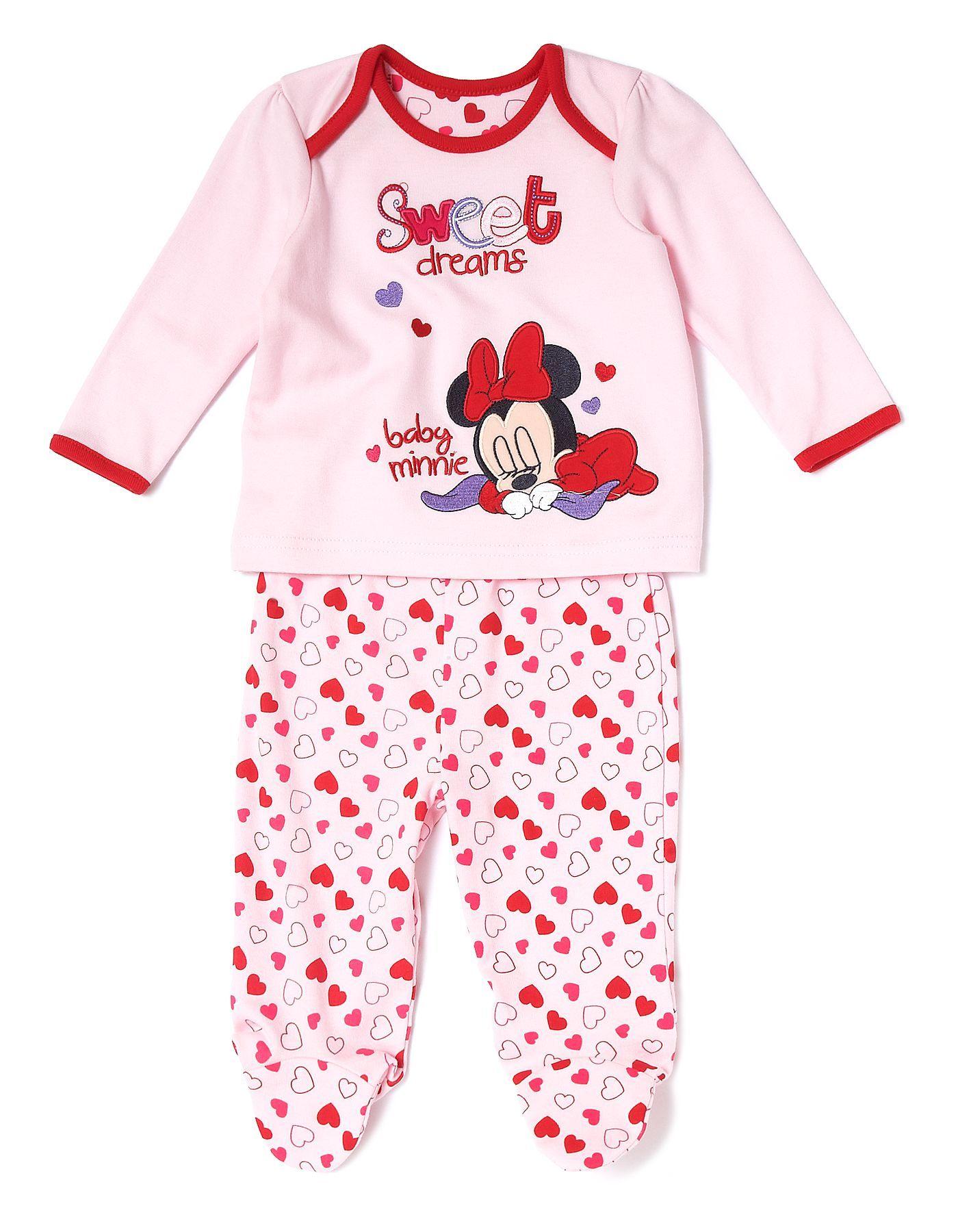 Minnie Mouse Baby Pyjama Set George at ASDA
