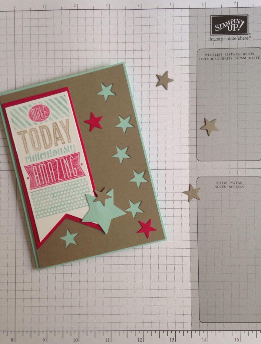 Super quick card using the 'Amazing Birthday' stamp set!