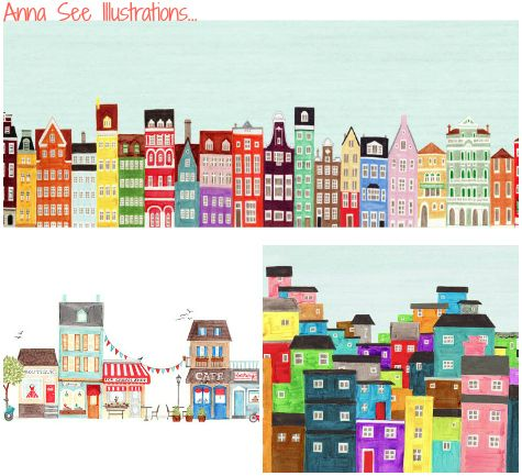 Pretty colourful illustrations from Anna See