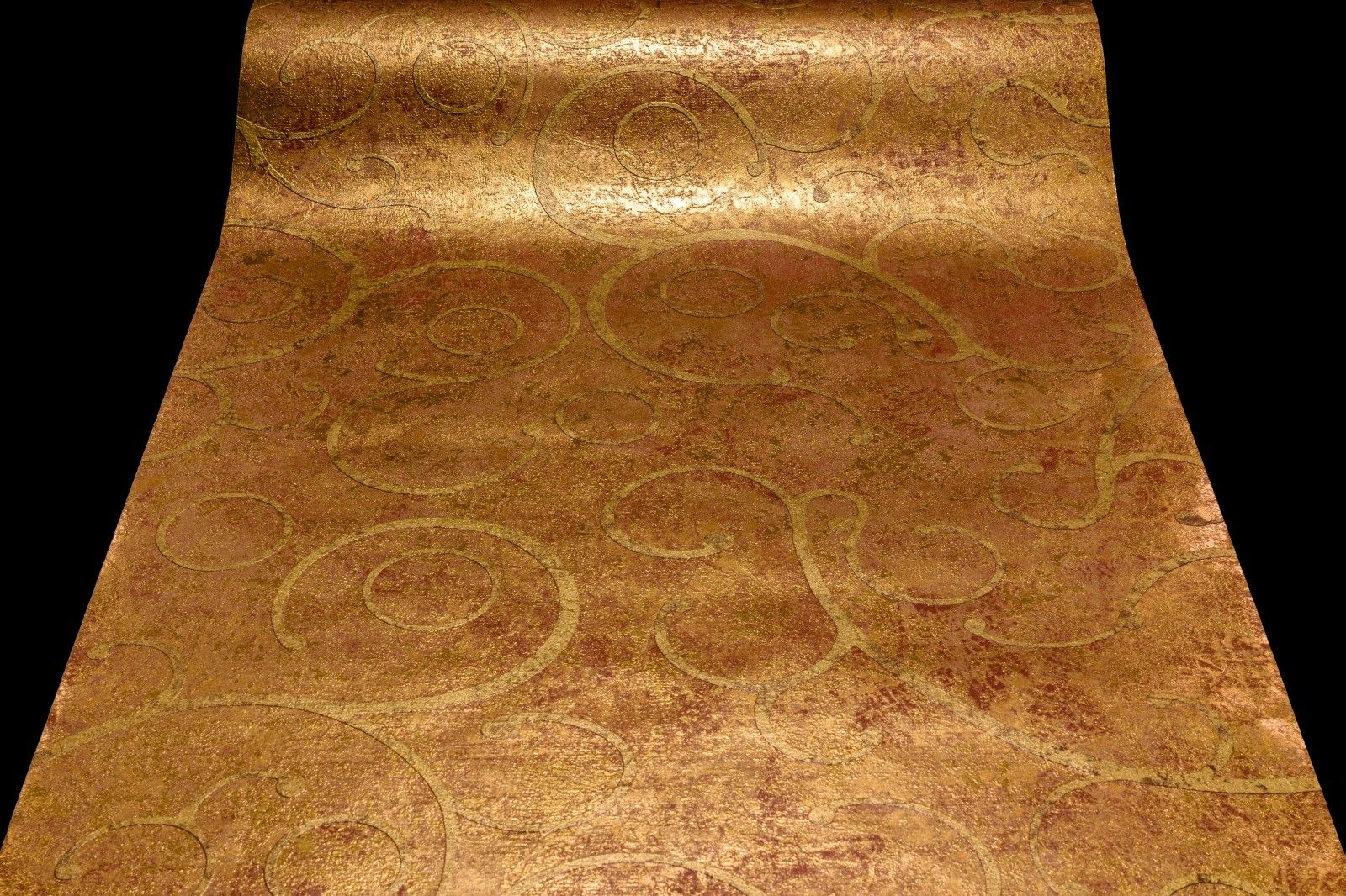 Tapeten Mediterran la veneziana vliestapete marburg tapete edel barock gold rost 77724