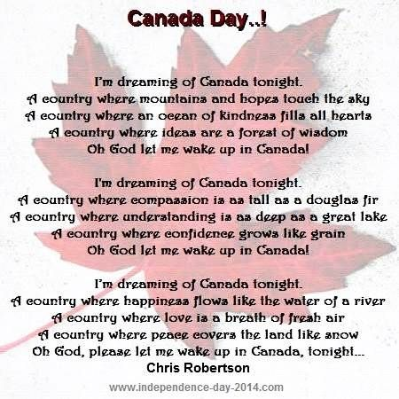I need help writing a speech for Canada day it's due tomorrow?