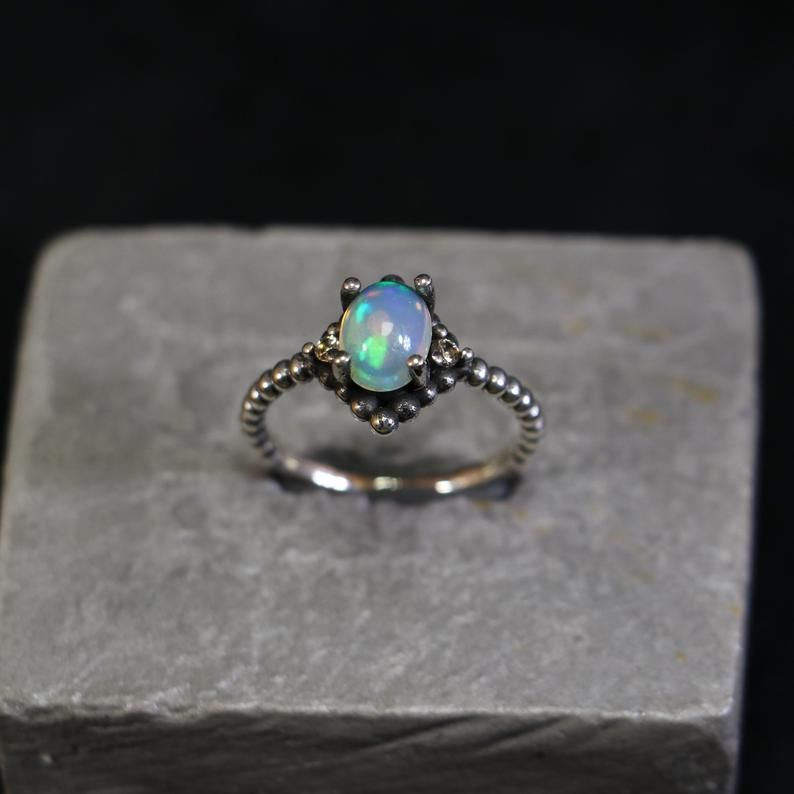Flower Ring Leaf ring Pink Quartz Silver Ring Minimalist Ring Minimalist Ring Rose Quartz Ring Mystic Ring Bogo Ring