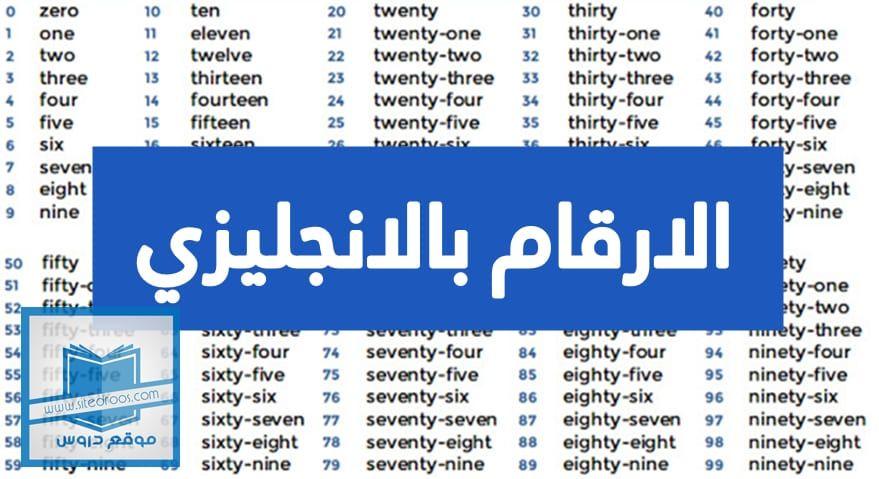 الارقام بالانجليزي من 1 الى 1000 مع النطق English Writing Thirty One Twenty One