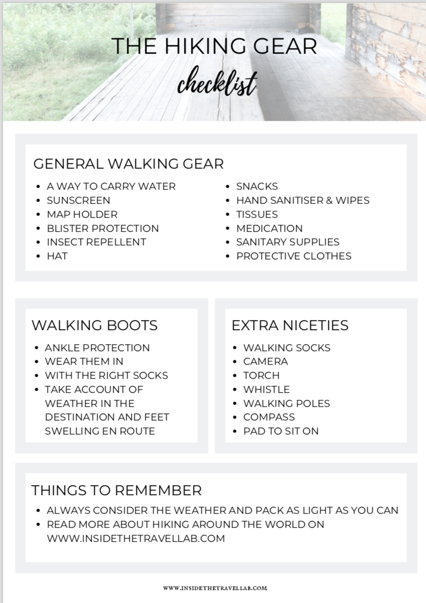 Photo of The Hiking Gear Checklist – Free Printable for a Walking Holiday