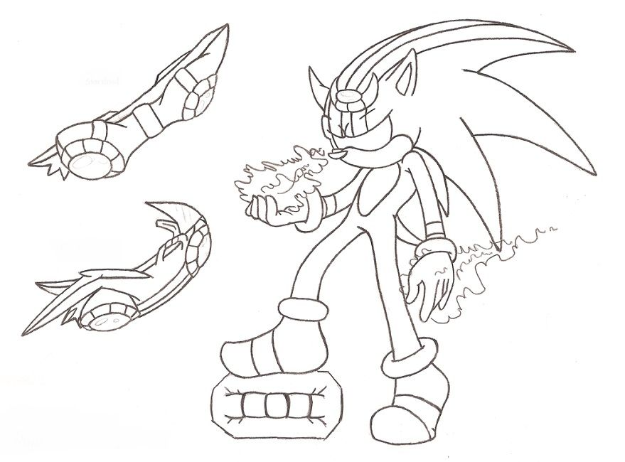 Sonic Riders Zero Gravity Coloring Pages