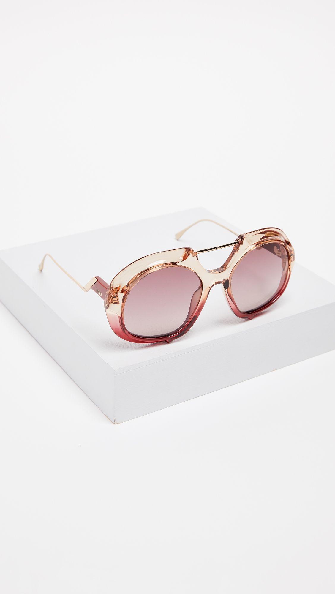 b53cc564fa Fendi Thick Aviator Sunglasses