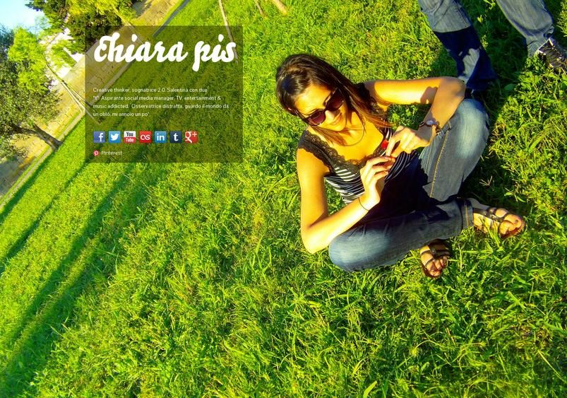 chiara pis' page on about.me – http://about.me/chiarapis