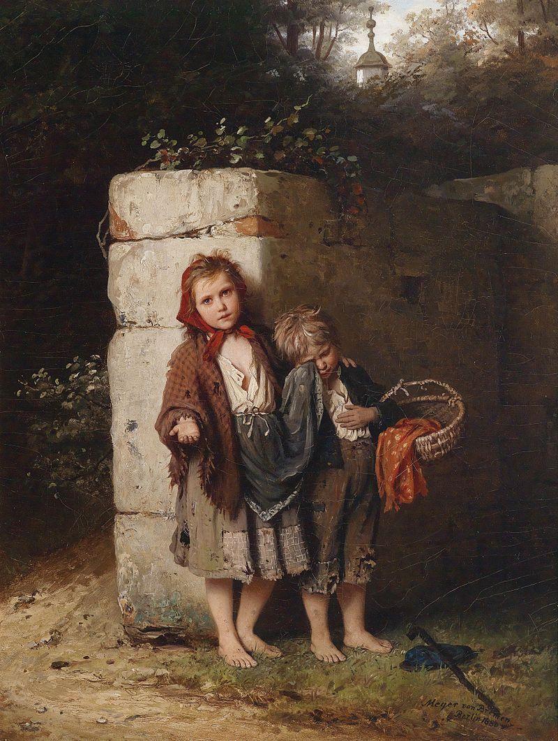 Johann Georg Meyer von Bremen Bettelnde Kinder 1880.jpg