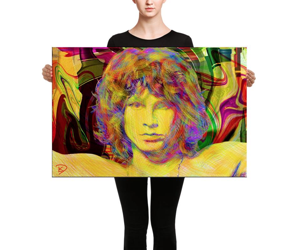 Jim Morrison Canvas The Doors Classic Rock Wall Art Canvas Art Jim Morrison Stretch Canvas