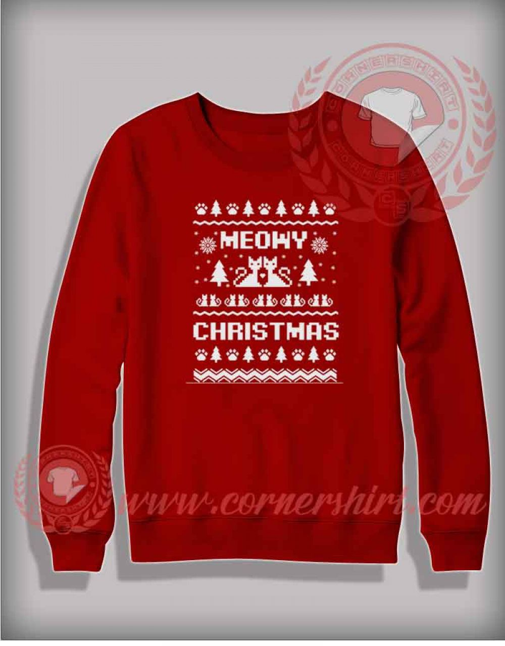 Fotos Cena Navidad Frinsa.Meowy Christmas Sweatshirt Funny Christmas Gifts For Friends